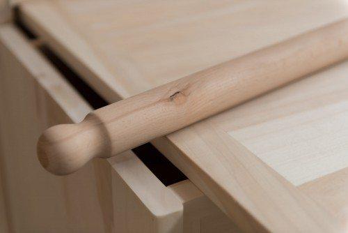 Piano di lavoro indeformabile in legno massello con rasagnolo